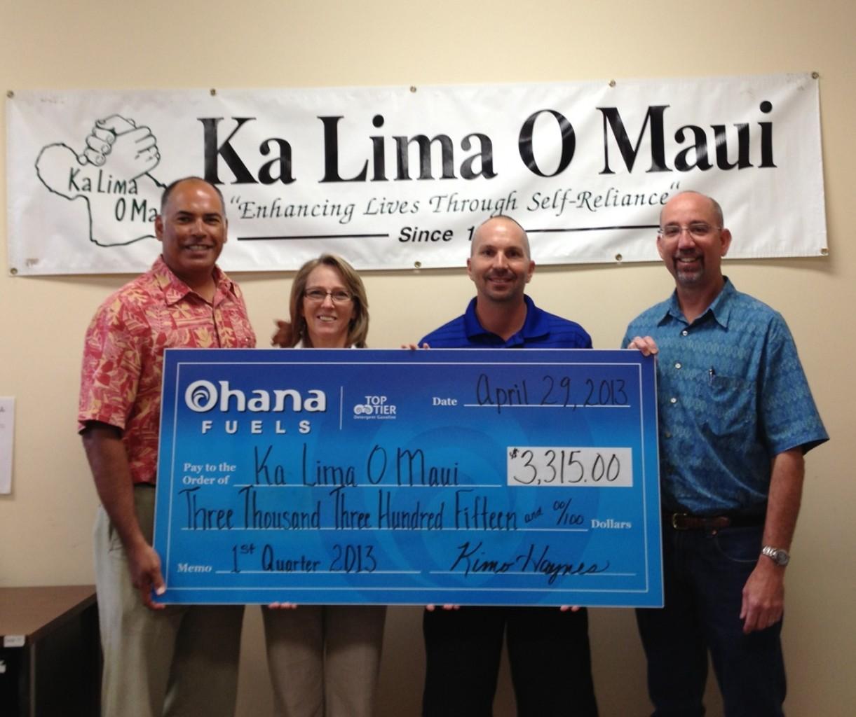 ohana fuels donation 042913