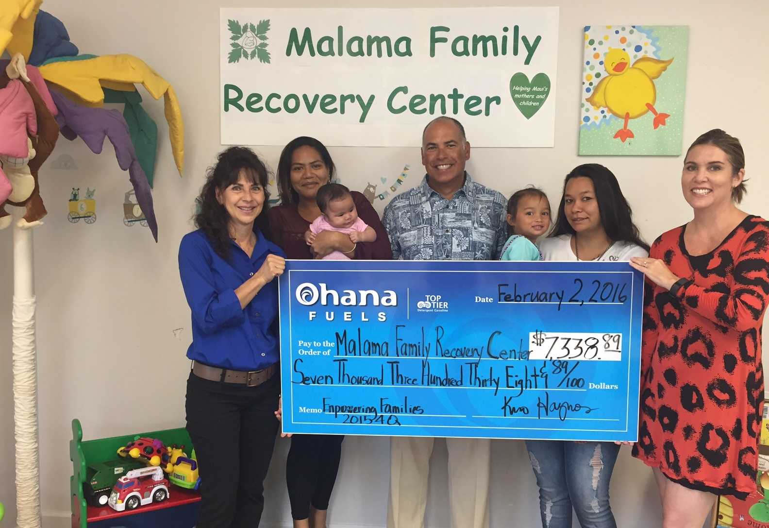OF Check Presentation to Malama 1